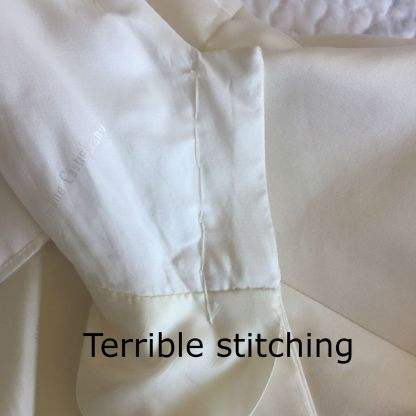 TERRIBLE STITCHING